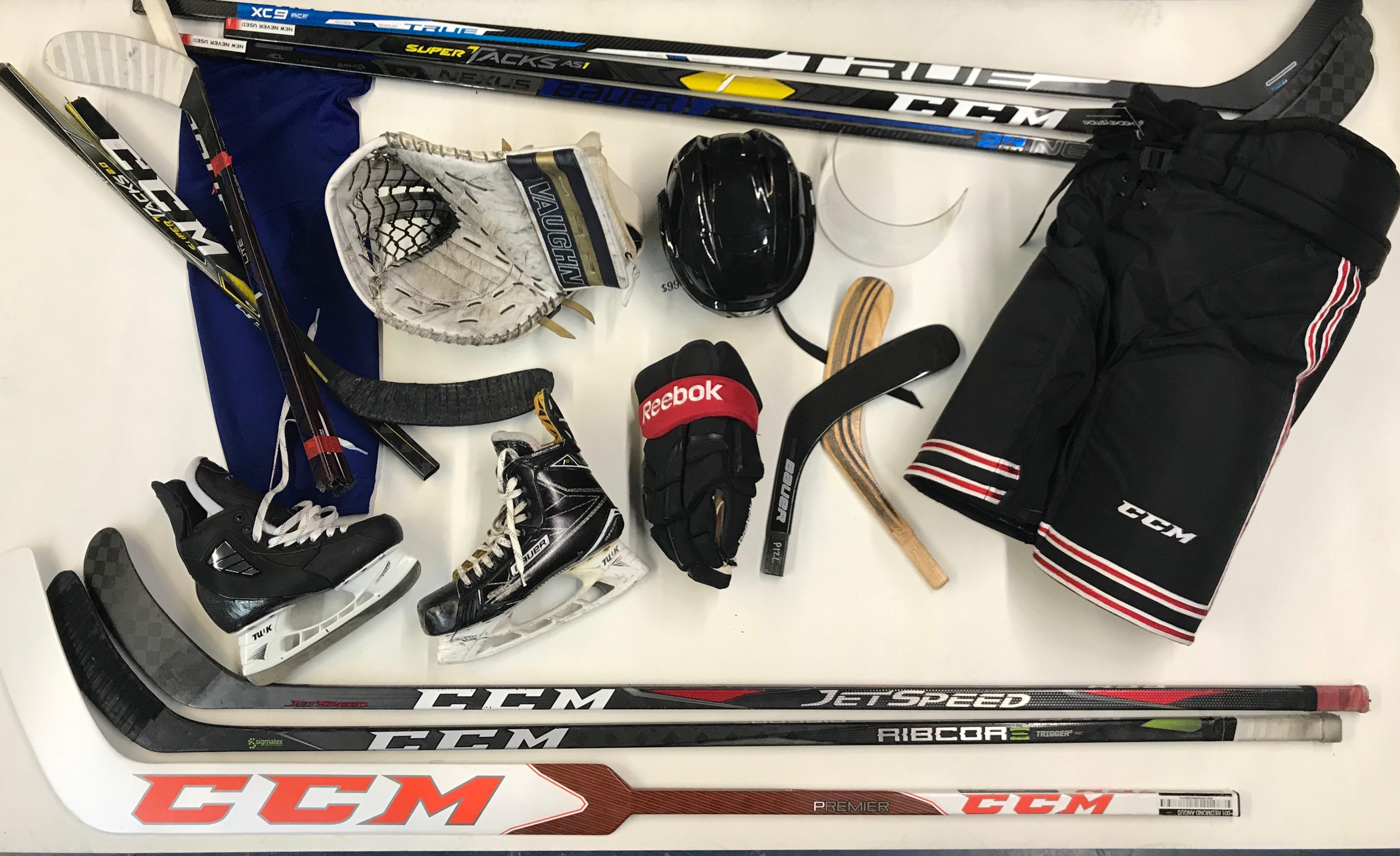 hockey stick man