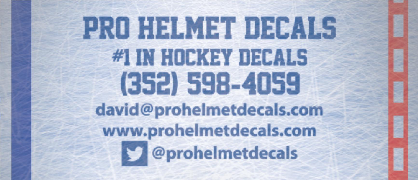 Pro Helmet Decals